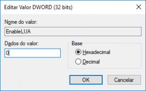 desativar UAC Windows 10
