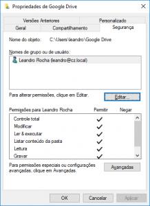 pesquisa pasta google drive não funciona